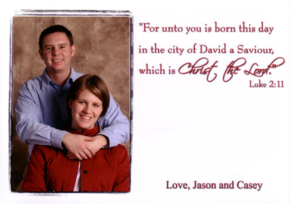 Jason and Casey Berberich Christmas Card 2004