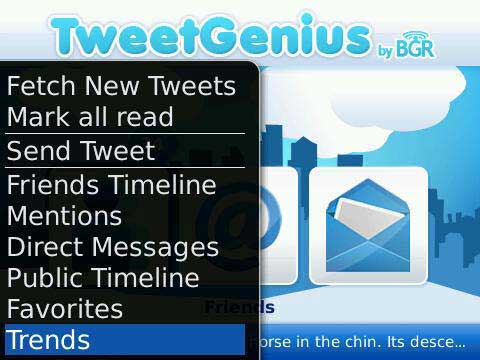 TweetGenius Menu