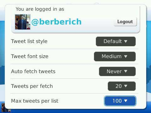 TweetGenius Settings 1