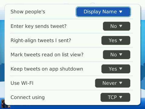 TweetGenius Settings 2