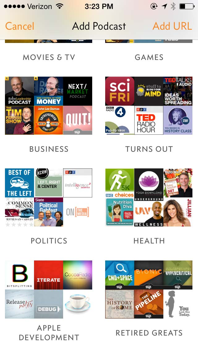 Turns out, Overcast has a podcast directory
