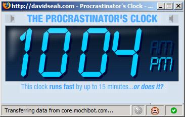 The Procrastinator's Clock